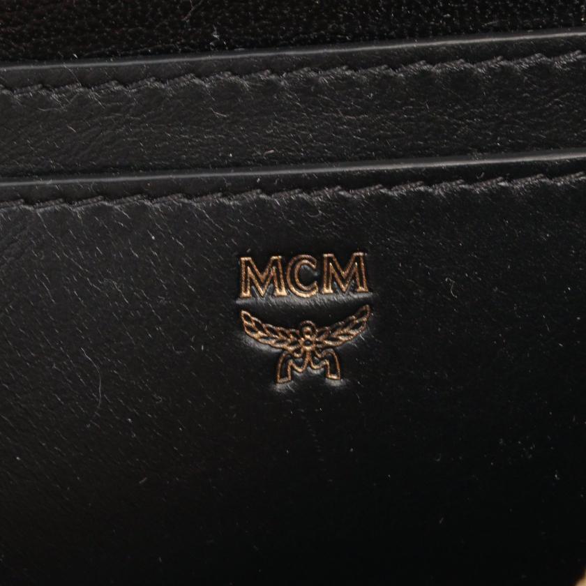 MCM・バッグ・ バックパック リュックサック レザー ブラック ビジュー スタッズ