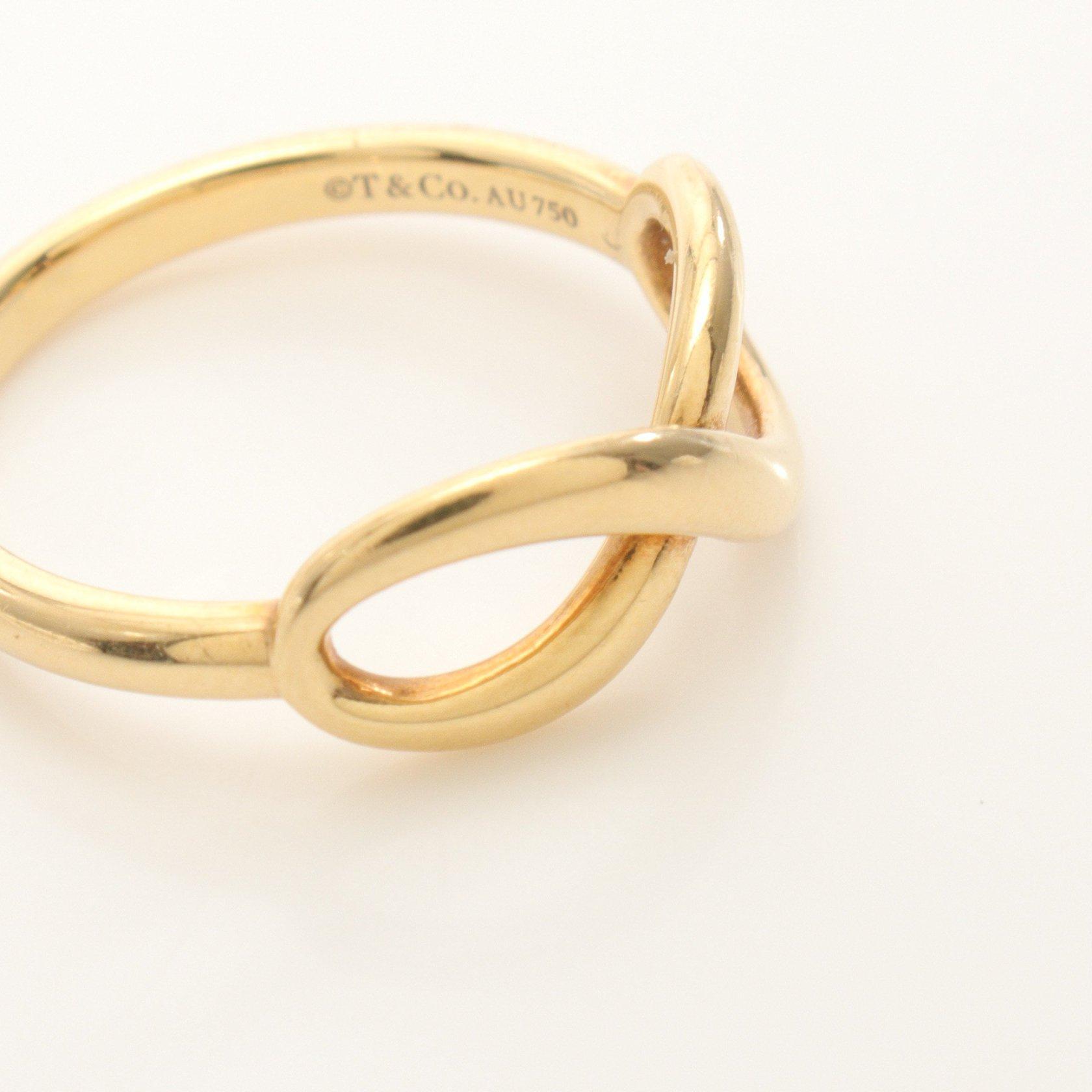 TIFFANY & Co.・アクセサリー・INFINITY インフィニティ リング 指輪 K18YG イエローゴールド