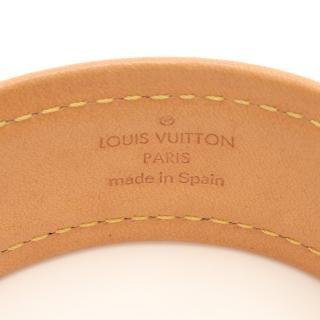 LOUIS VUITTON・アクセサリー・ブラスレ セイブイット バングル モノグラム ブレスレット PVC レザー ブラウン