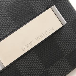 LOUIS VUITTON・財布・小物・ポルトカルト パンス ダミエグラフィット カードケース マネークリップ PVC レザー ブラック