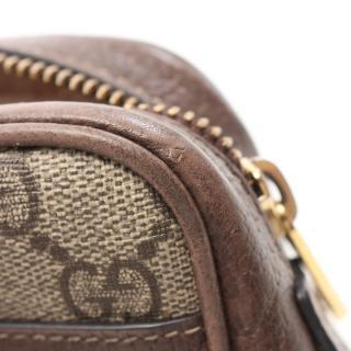 GUCCI・バッグ・オフィディア GGスプリーム ミニ バッグ シェリーライン ショルダーバッグ PVC レザー ベージュ マルチカラー