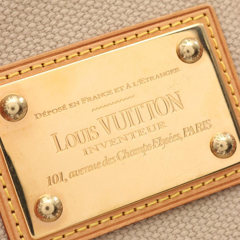 LOUIS VUITTON・バッグ・カバPM アンティグア トートバッグ キャンバス レザー ベージュ レッド