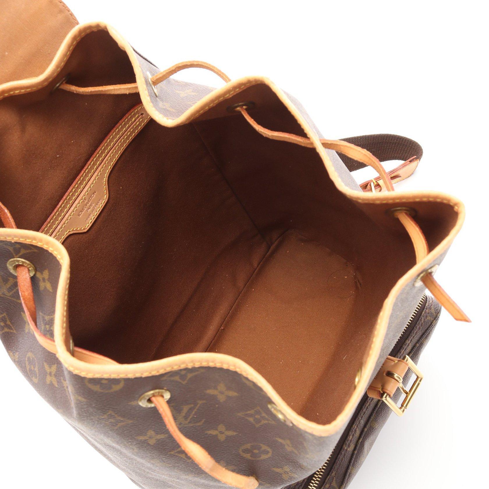 LOUIS VUITTON・バッグ・モンスリGM モノグラム バックパック リュックサック PVC レザー ブラウン