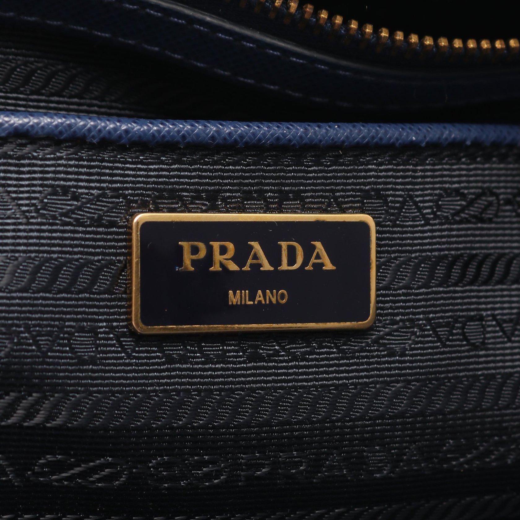 PRADA・バッグ・ガレリア トートバッグ サフィアーノレザー ブルー