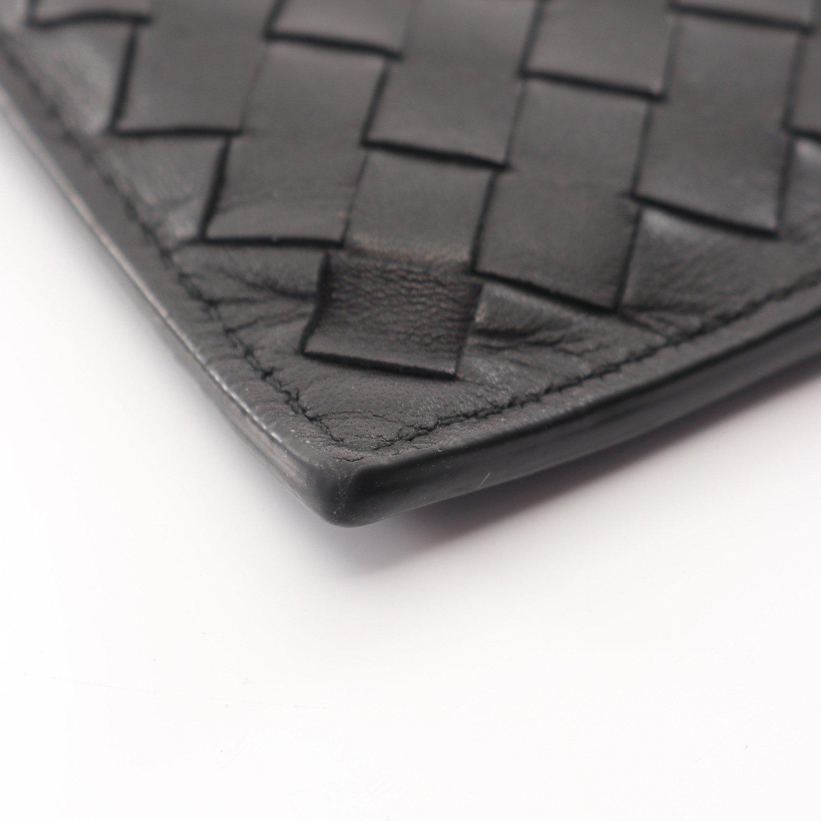 BOTTEGA VENETA・財布・小物・イントレチャート コインケース カードケース レザー ブラック