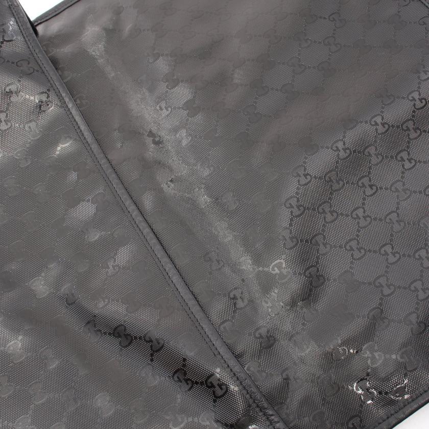 GUCCI・バッグ・GGインプリメ ショルダーバッグ PVC レザー ブラック