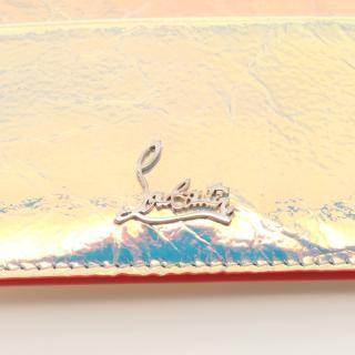 Christian Louboutin・財布・小物・W KIOS NV CALF BANQUISE カードケース レザー マルチカラー ホログラム シワ加工