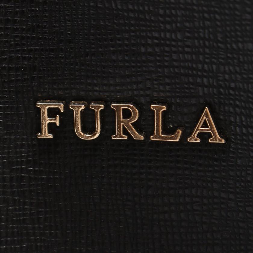 FURLA・バッグ・STACY ステイシー ハンドバッグ レザー ブラック 巾着 2WAY