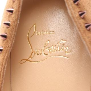 Christian Louboutin・シューズ・ANJALINA 85 パンプス スエード ライトブラウン スタッズ