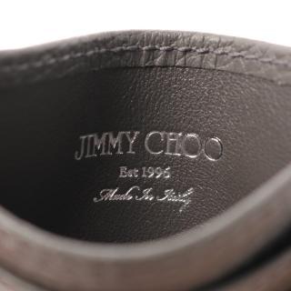 JIMMY CHOO・財布・小物・DEAN カードケース レザー グレー スターエンボス