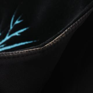 BALENCIAGA・トップス・ カットソー 刺繍 ベロア ブラック マルチカラー