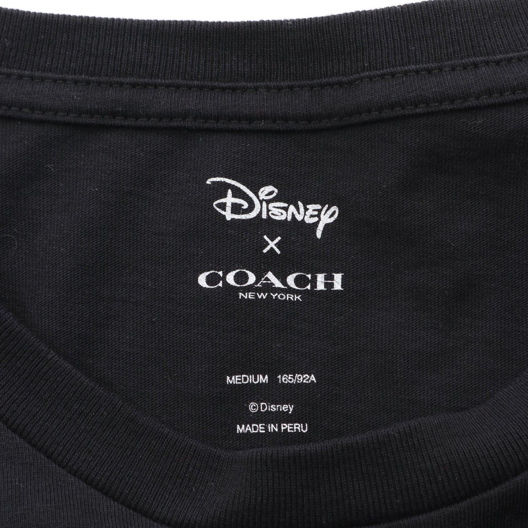 COACH・トップス・COACH × Disney ミッキー Tシャツ プリント ブラック レッド アイボリー