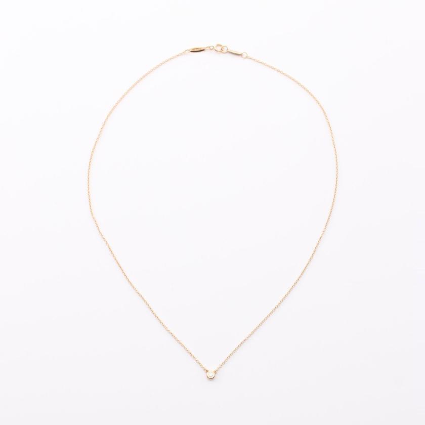 TIFFANY & Co.・アクセサリー・バイザヤード エルサペレッティ ネックレス K18PG ダイヤモンド ピンクゴールド 1Pダイヤ