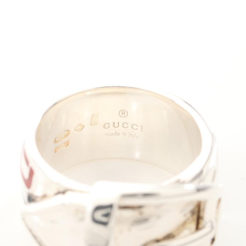 GUCCI・アクセサリー・ホースビット ベルトモチーフ リング 指輪 SV925 シルバー ネイビー レッド