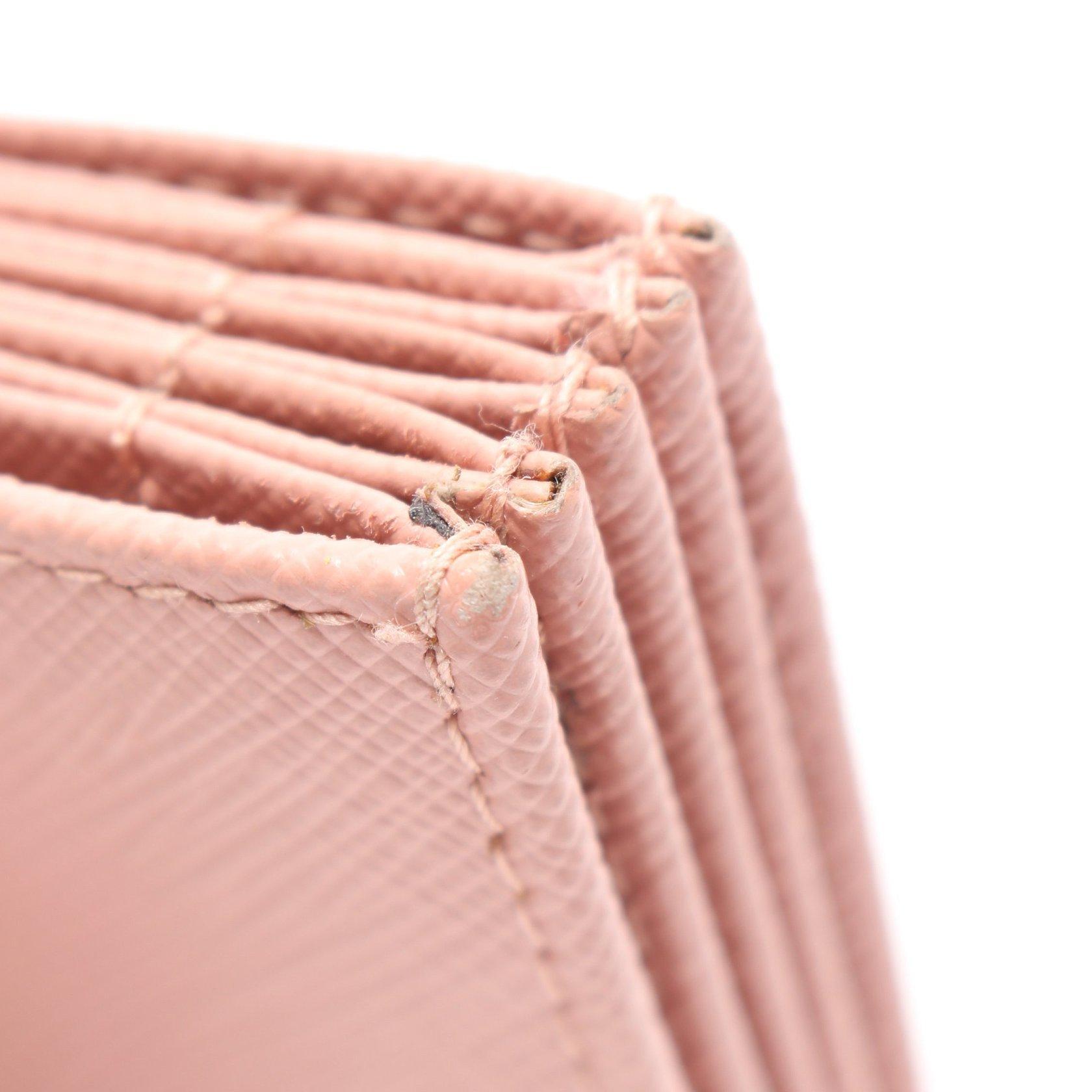 PRADA・財布・小物・SAFFIANO METAL カードケース サフィアーノレザー ピンク