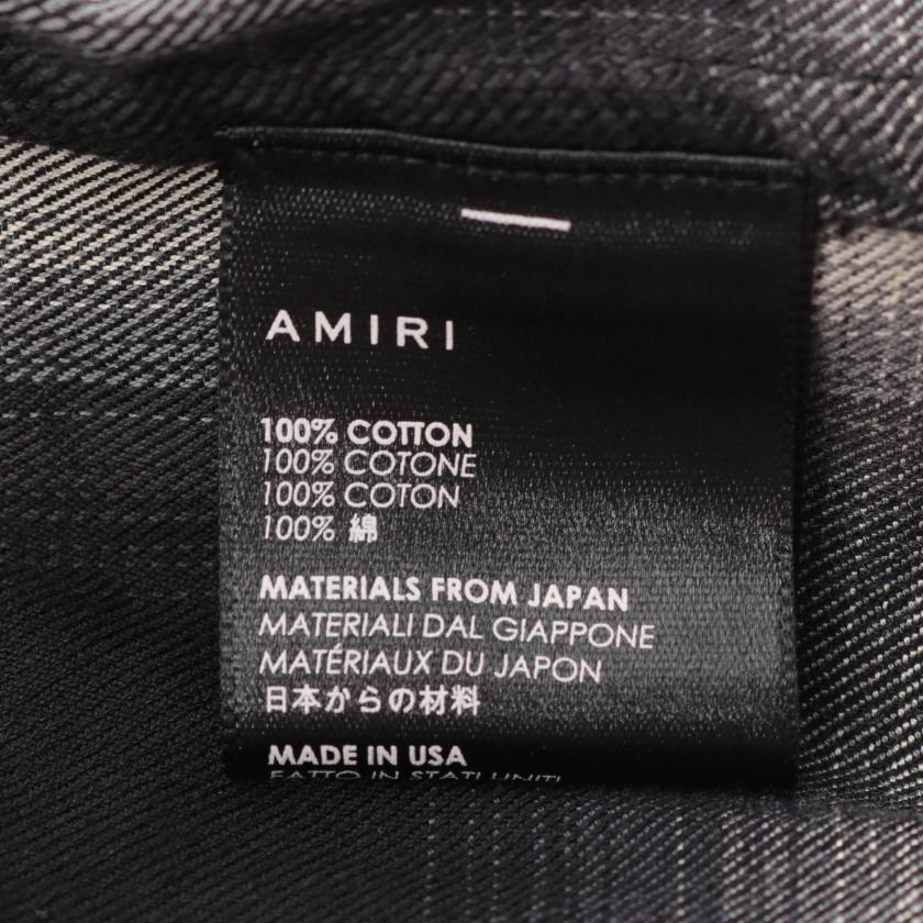 AMIRI・トップス・ シャツ チェック ブラック シルバー
