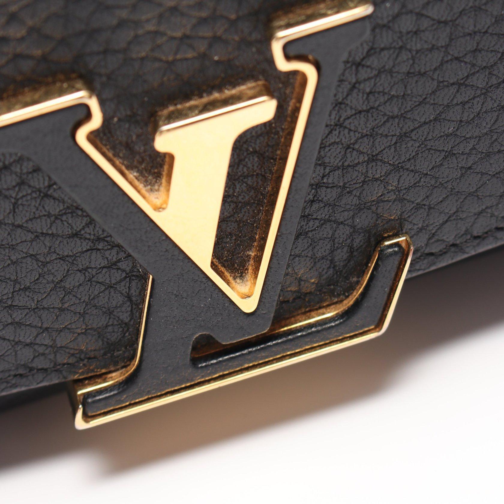LOUIS VUITTON・財布・小物・ポルトフォイユ カプシーヌ トリヨン ノワール 二つ折り長財布 レザー ブラック