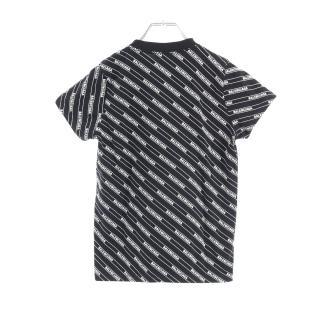 BALENCIAGA・トップス・オールオーバーロゴ Tシャツ カットソー ブラック ホワイト