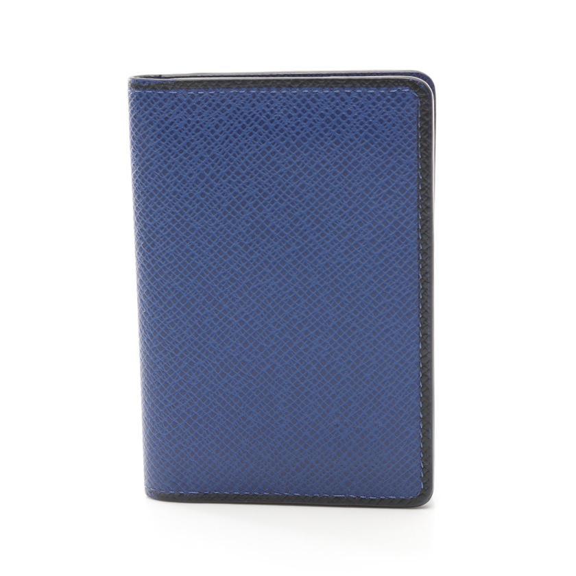 LOUIS VUITTON・財布・小物・オーガナイザー ドゥポッシュ タイガ コバルト カードケース レザー ブルー