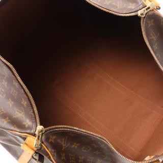 LOUIS VUITTON・バッグ・キーポル バンドリエール55 モノグラム ボストンバッグ PVC レザー ブラウン 2WAY