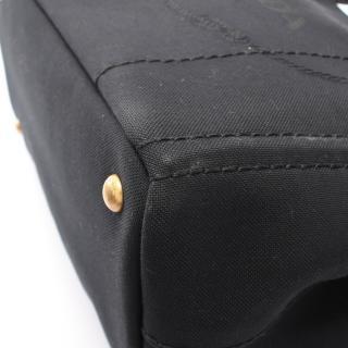 PRADA・バッグ・LOGO JACQUARD CANAPA  ロゴジャガード カナパ トートバッグ キャンバス ブラック 2WAY