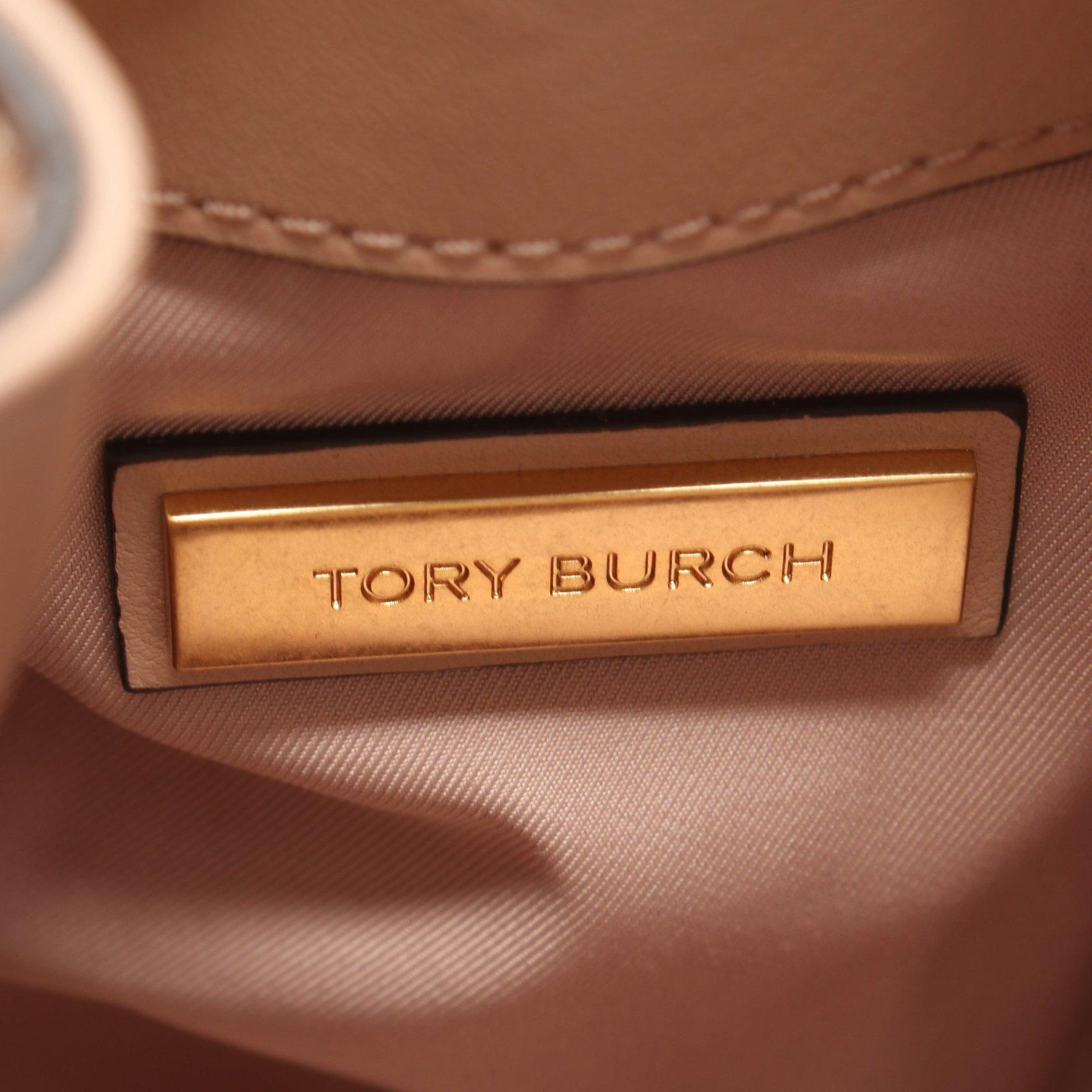 TORY BURCH・バッグ・FLEMING MINI BACKPACK フレミング バックパック リュックサック フェイクレザー ピンクベージュ