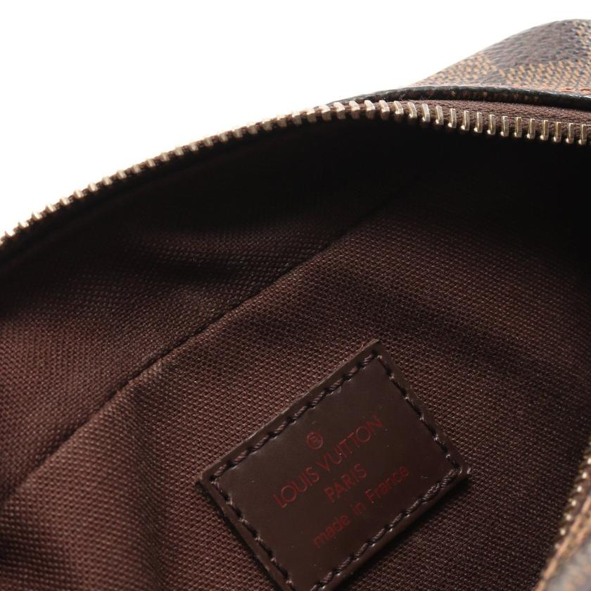 LOUIS VUITTON・バッグ・オラフPM ダミエエベヌ ショルダーバッグ PVC レザー ブラウン