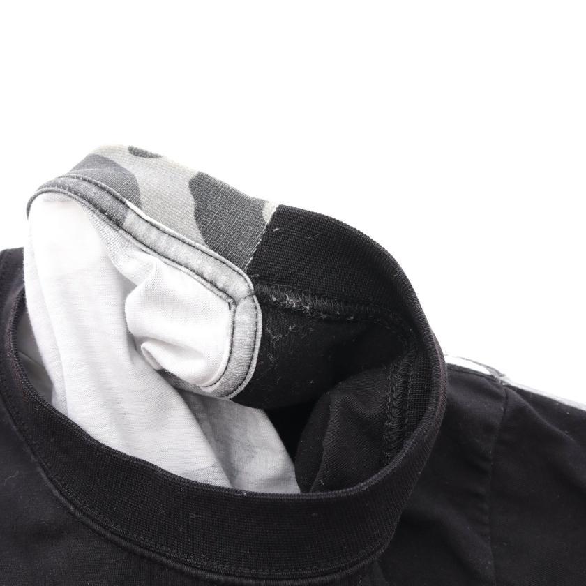 VETEMENTS・トップス・ Tシャツ プリント バックカモフラージュ柄 ブラック マルチカラー