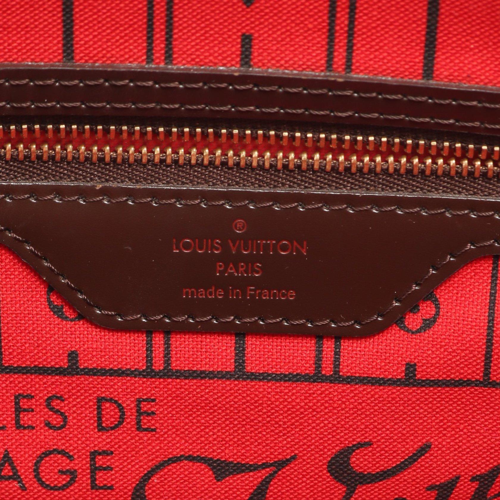 LOUIS VUITTON・バッグ・ネヴァーフルPM ダミエエベヌ トートバッグ PVC レザー ブラウン