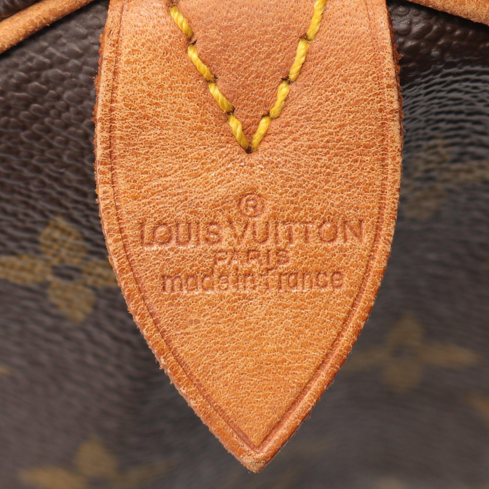LOUIS VUITTON・バッグ・スピーディ35 モノグラム ハンドバッグ PVC レザー ブラウン