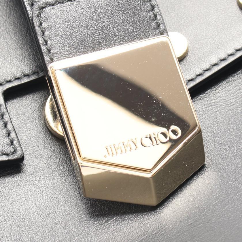 JIMMY CHOO・バッグ・ロケット ハンドバッグ レザー ブラック スタッズ