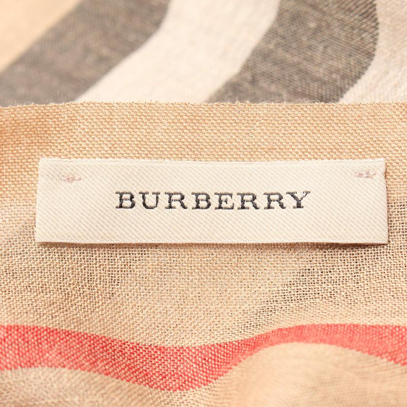 BURBERRY・財布・小物・ノバチェック ストール ウール シルク ベージュ マルチカラー