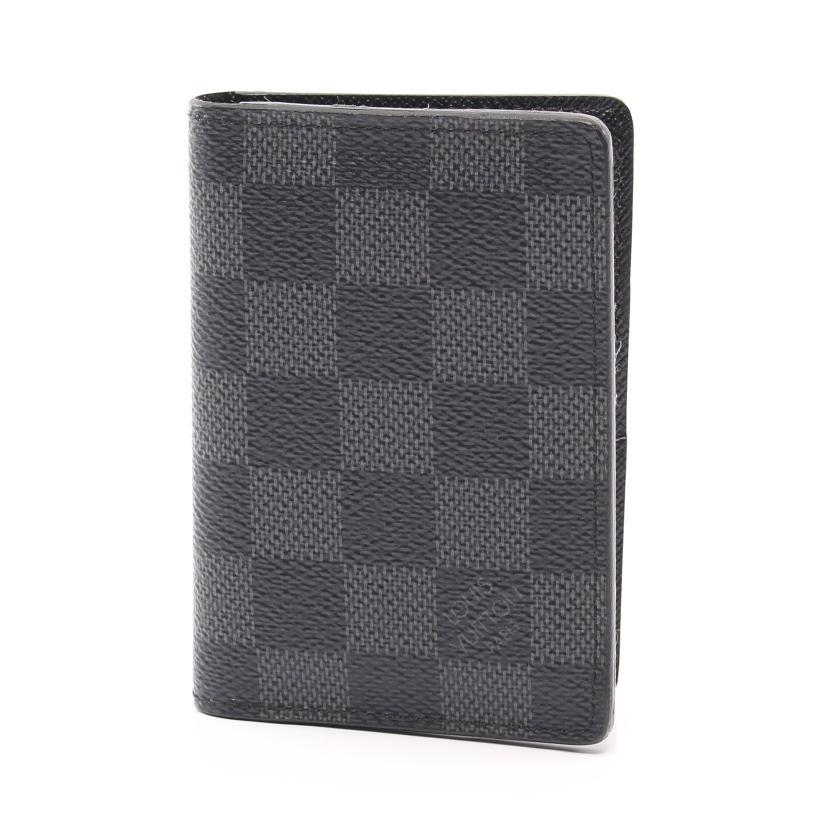 LOUIS VUITTON・財布・小物・オーガナイザー ドゥ ポッシュ ダミエグラフィット カードケース PVC レザー ブラック