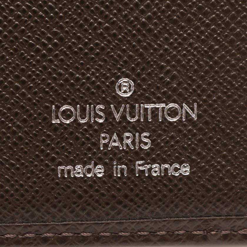 LOUIS VUITTON・財布・小物・オーガナイザー ドゥ ポッシュ タイガ グリズリ カードケース レザー ダークブラウン