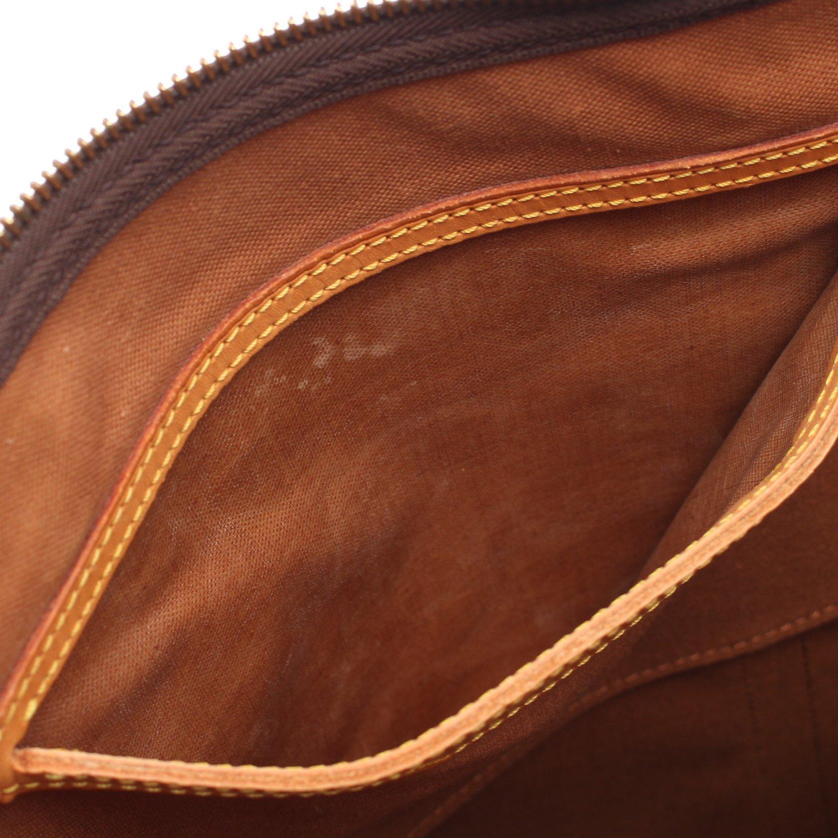 LOUIS VUITTON・バッグ・フラネリー50 モノグラム ショルダーバッグ PVC レザー ブラウン