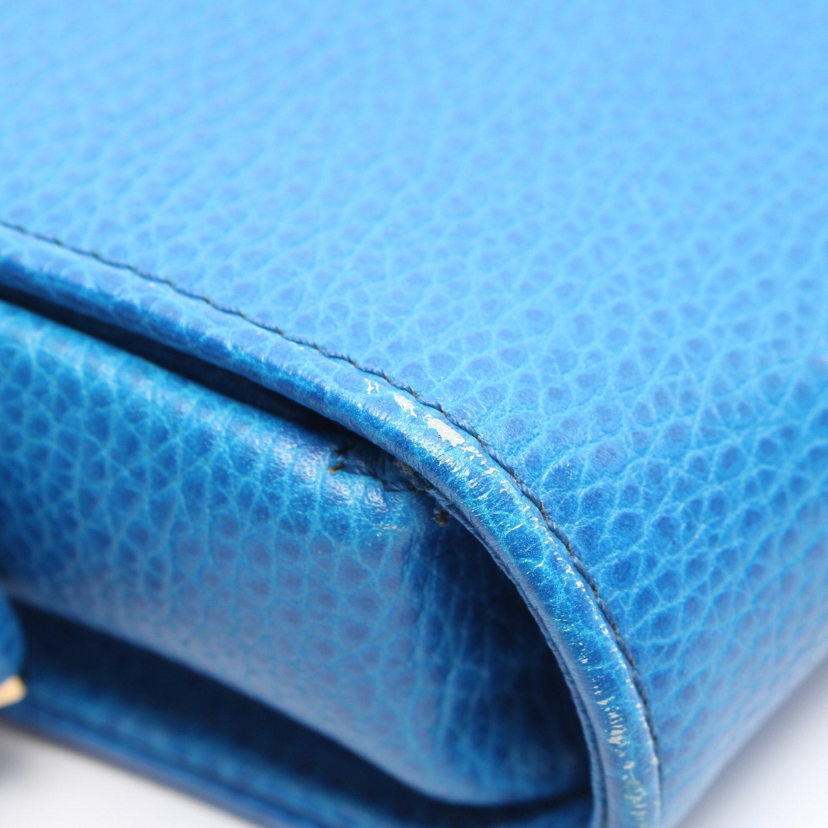 Cartier・バッグ・マストライン ショルダーバッグ レザー ブルー