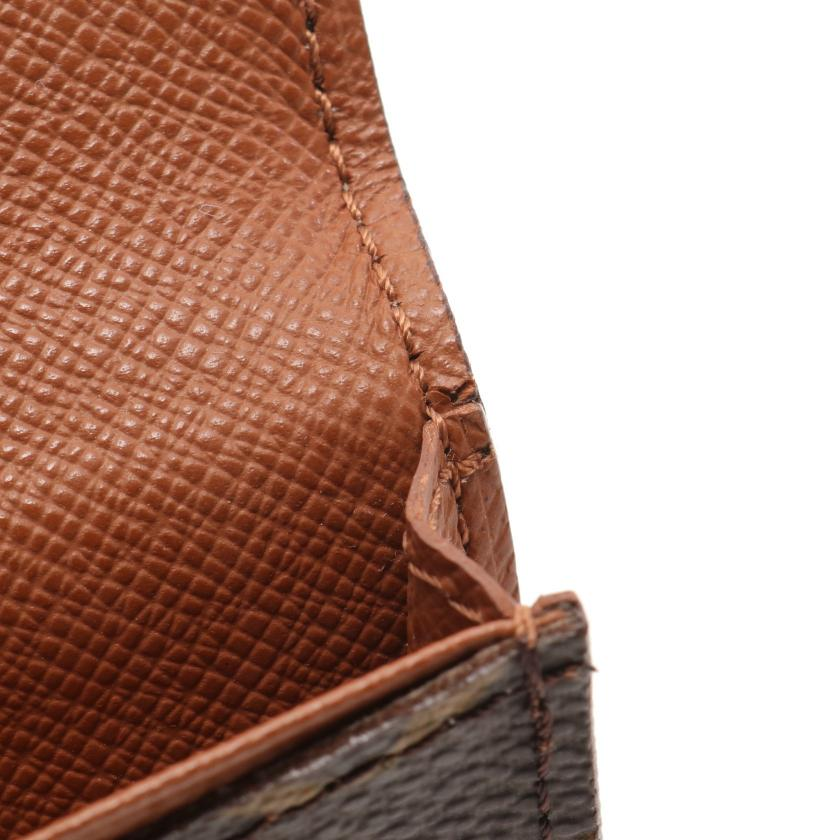LOUIS VUITTON・財布・小物・アンヴェロップ カルト ドゥ ヴィジット モノグラム 名刺入れ カードケース PVC レザー ブラウン