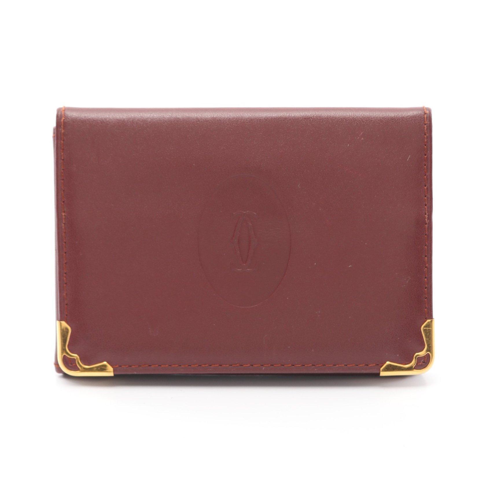 Cartier・財布・小物・マストライン カードケース パスケース レザー ボルドー