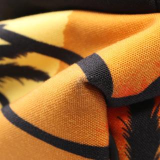 SAINT LAURENT PARIS・バッグ・クラシックハンティング バックパック リュックサック パームツリー キャンバス レザー オレンジ ブラック