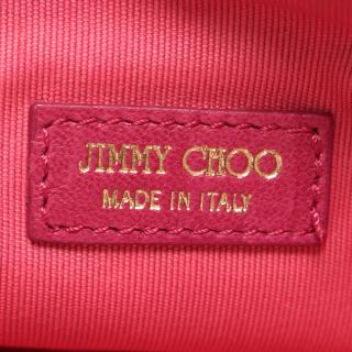 JIMMY CHOO・バッグ・ ハンドバッグ レザー ピンク マルチカラー スタースタッズ