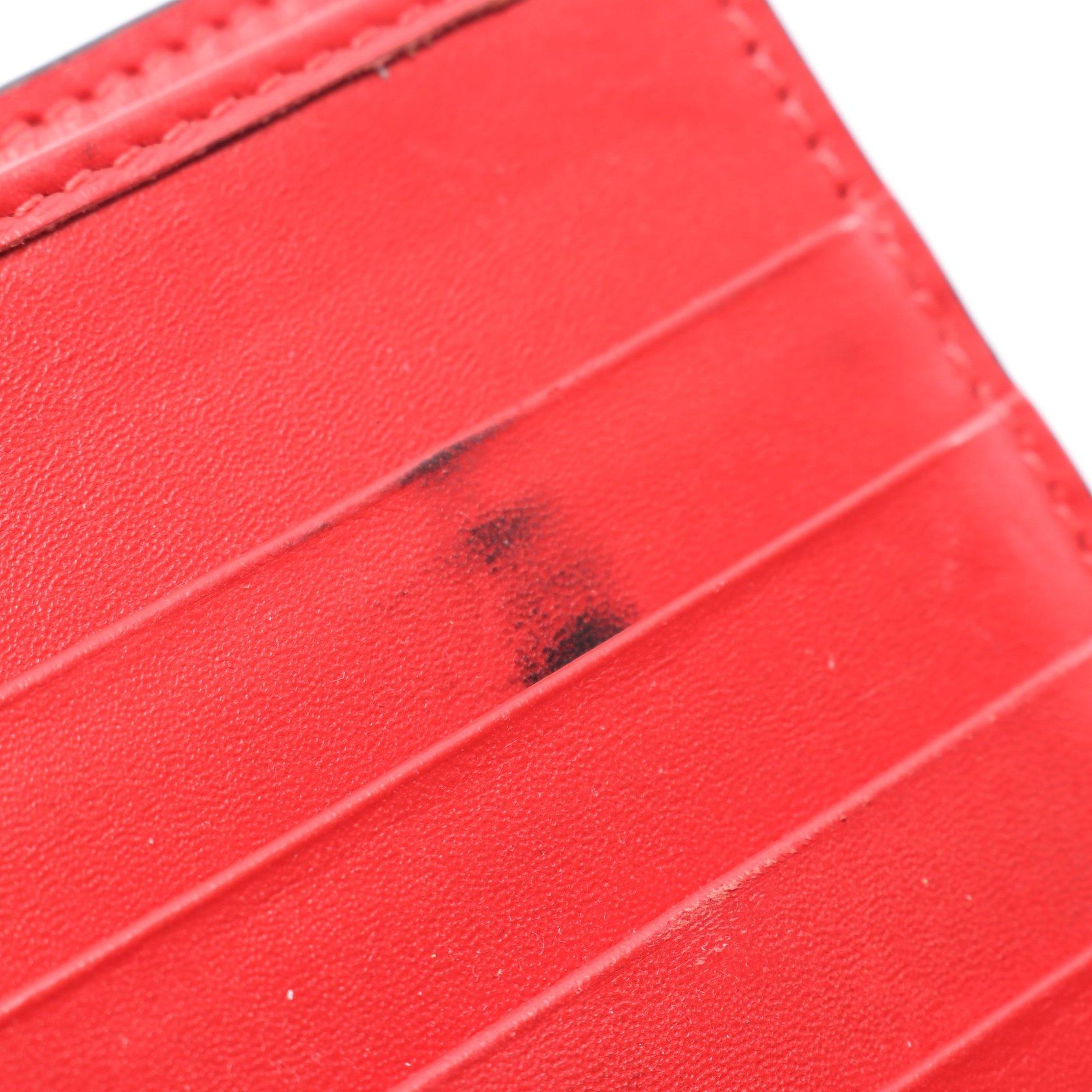 Christian Louboutin・財布・小物・Paloma Wallet パロマ 二つ折り長財布 レザー ラバー ブラック レッド