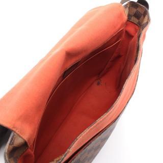 LOUIS VUITTON・バッグ・バスティーユ ダミエエベヌ ショルダーバッグ PVC レザー ブラウン