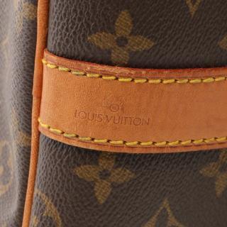 LOUIS VUITTON・バッグ・キーポル バンドリエール60 モノグラム ボストンバッグ PVC レザー ブラウン 2WAY