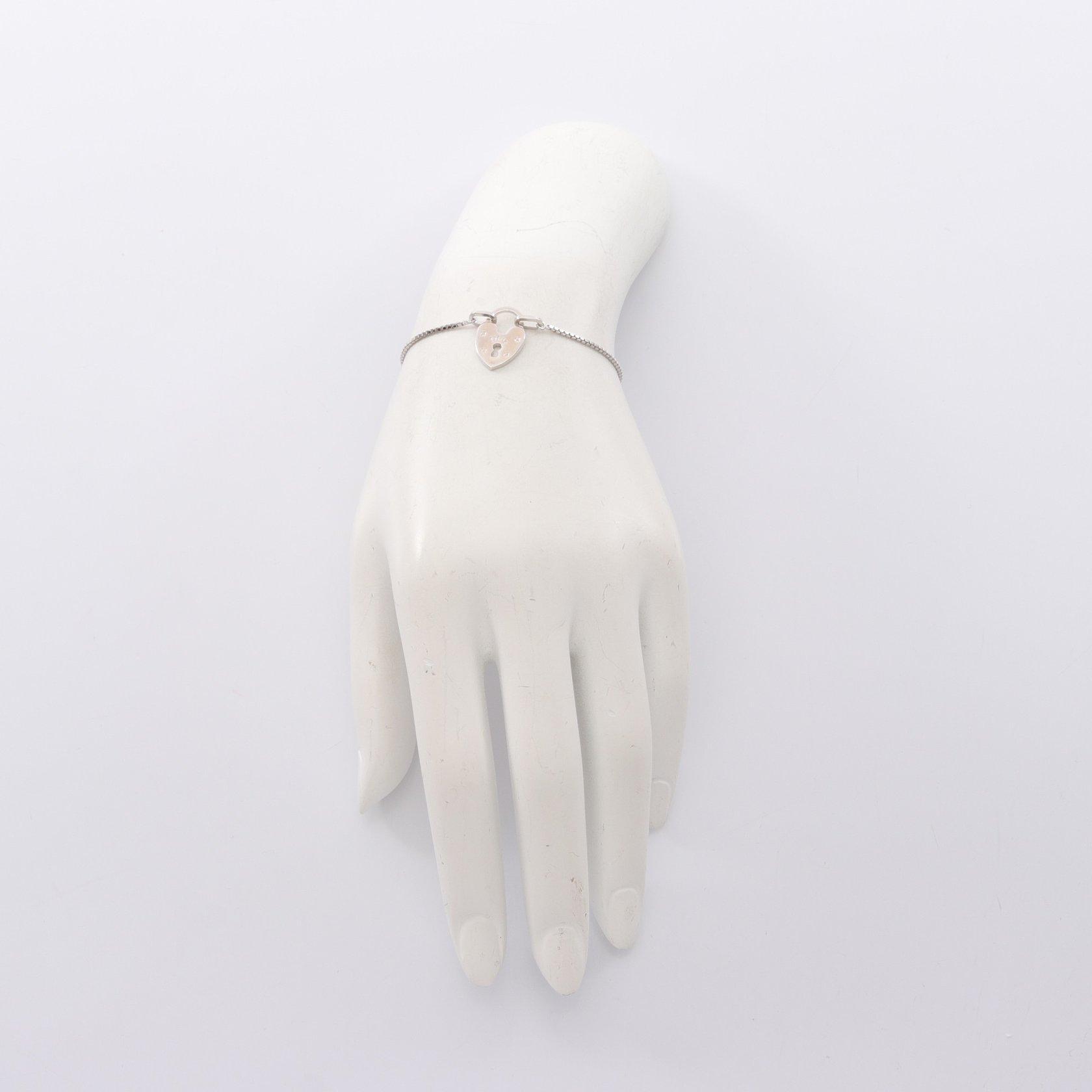 Christian Dior・アクセサリー・ハートロック ブレスレット シルバー