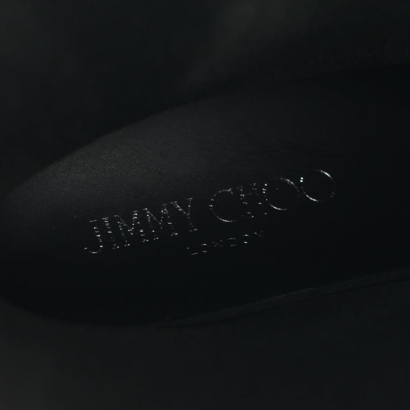 JIMMY CHOO・シューズ・ レイン ブーツ ラバー ブラック スタースタッズ