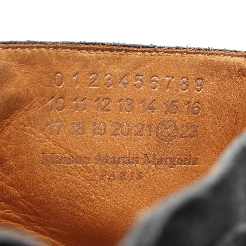 Maison Margiela 22・シューズ・ ブーツ レザー スエード ブラック レースアップ