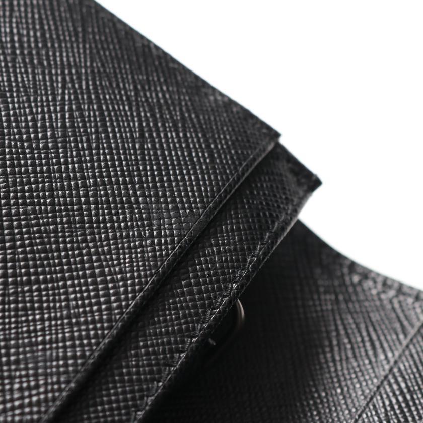 PRADA・財布・小物・ 二つ折り長財布 サフィアーノレザー ブラック