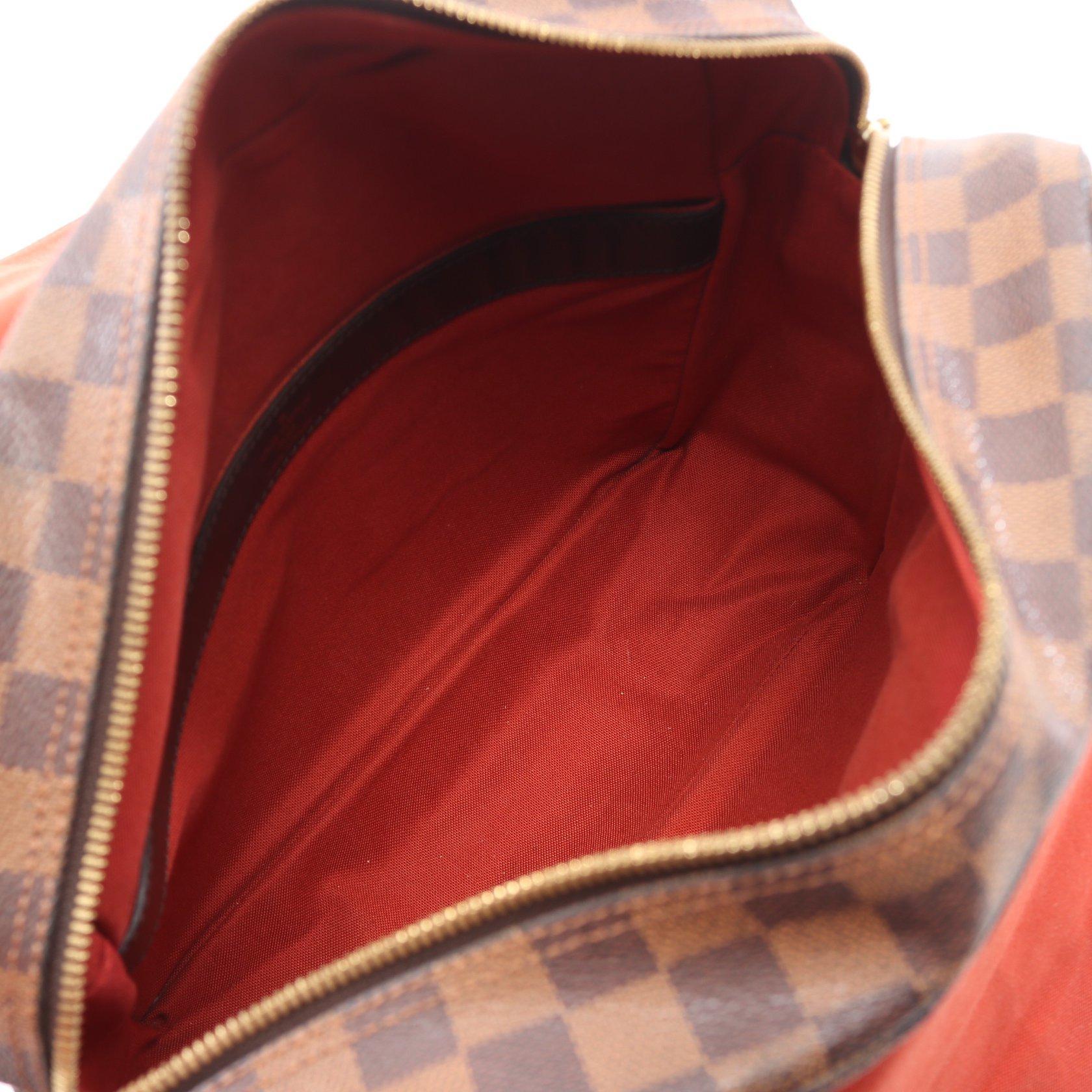 LOUIS VUITTON・バッグ・ナヴィグリオ ダミエエベヌ ショルダーバッグ PVC レザー ブラウン