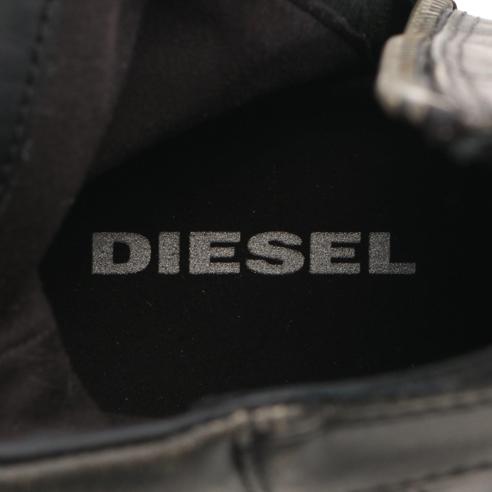 DIESEL・シューズ・BASKET BUTCH ZIPPY ブーツ レザー ブラック ヴィンテージ加工