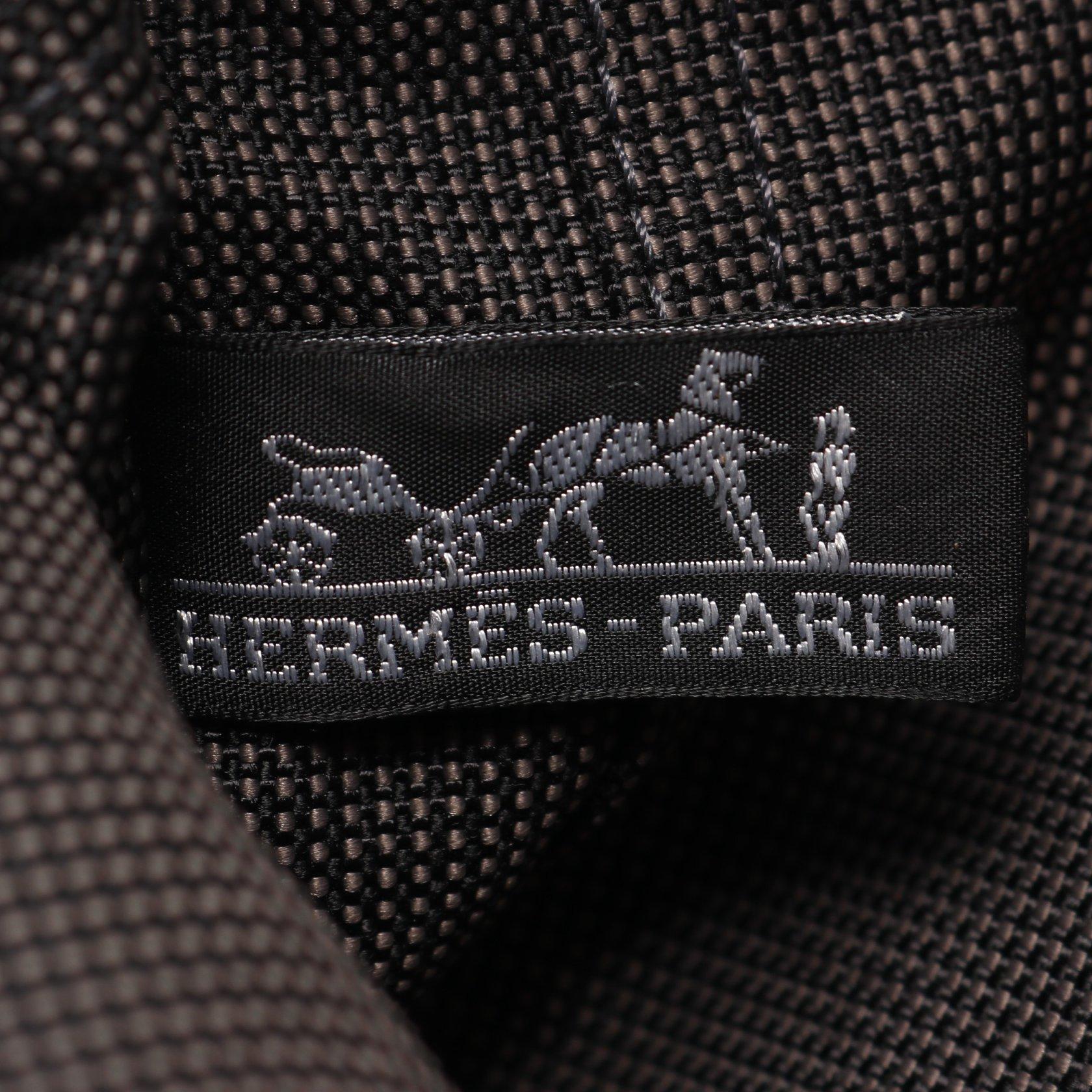 HERMES・バッグ・エールラインPM ハンドバッグ トートバッグ ナイロンキャンバス ダークグレー